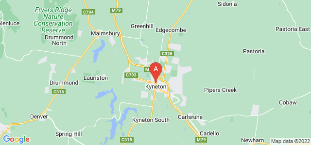 Google static map for Kyneton
