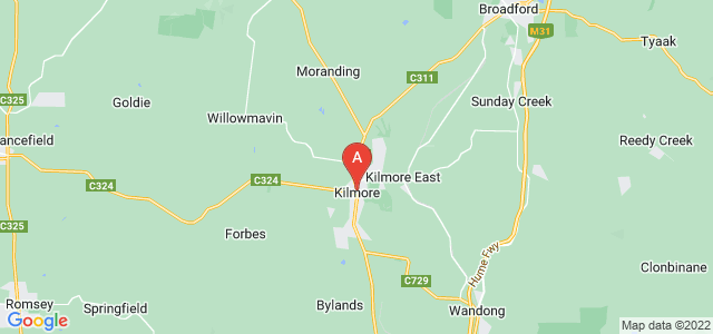 Google static map for Kilmore