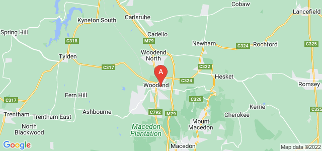 Google static map for Woodend