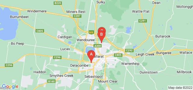 Google static map for Ballarat