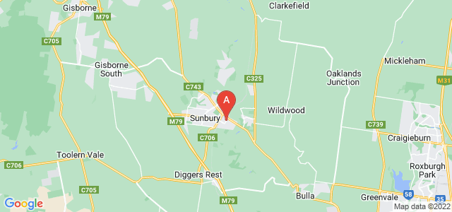 Google static map for Sunbury