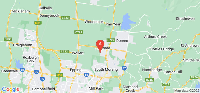 Google static map for Mernda