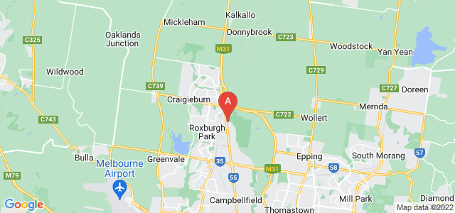 Google static map for Craigieburn