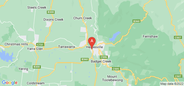 Google static map for Healesville