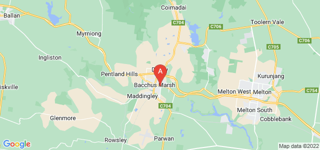 Google static map for Moorabool