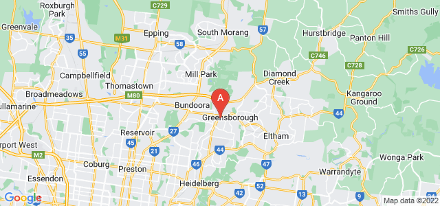 Google static map for Banyule