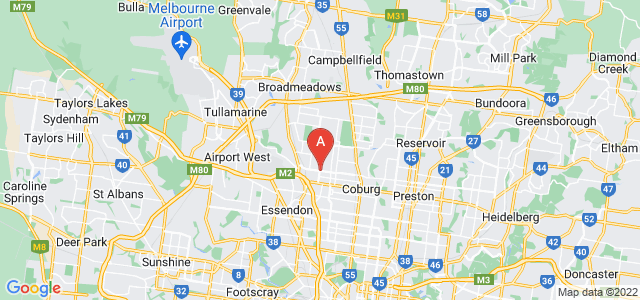 Google static map for Pascoe Vale