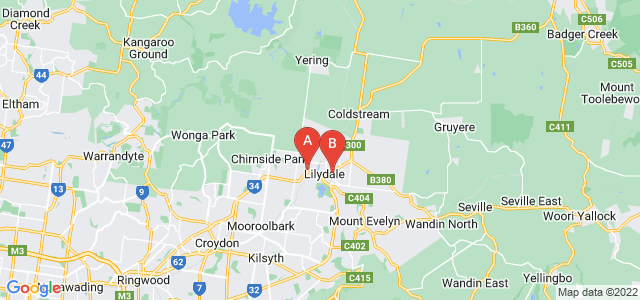 Google static map for Lilydale