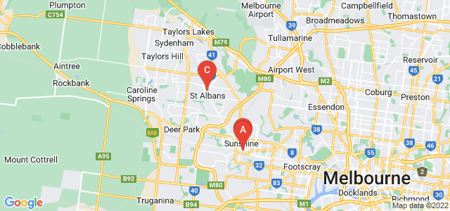 Google static map for West