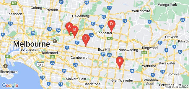 Google static map for Inner East