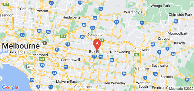 Google static map for Box Hill