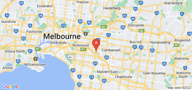 Google static map for Hawthorn