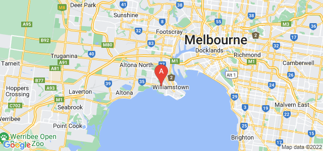 Google static map for Williamstown
