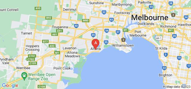 Google static map for Altona