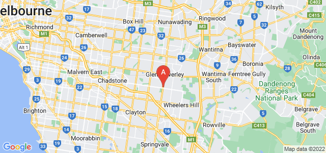 Google static map for Glen Waverley