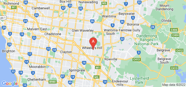 Google static map for Wheelers Hill