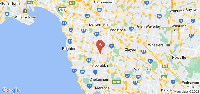 Google static map for Bentleigh East