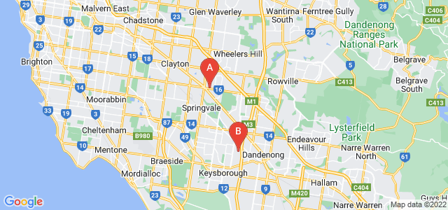 Google static map for South East