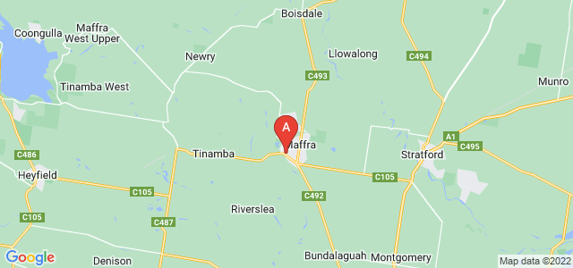 Google static map for Maffra