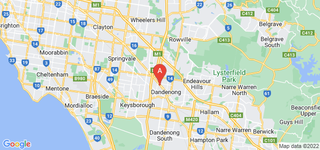 Google static map for Dandenong