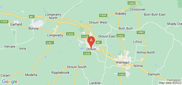 Google static map for Drouin