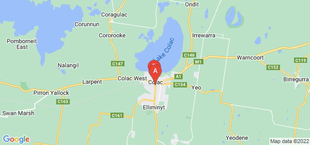 Google static map for Colac