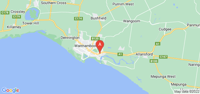 Google static map for Warrnambool