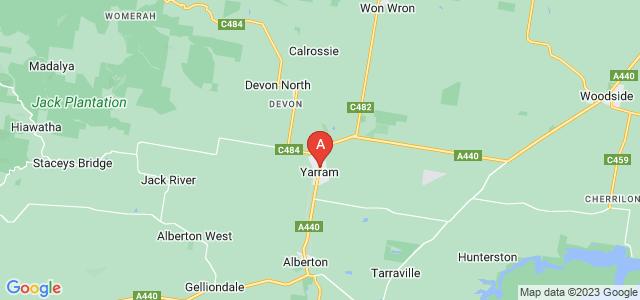 Google static map for Yarram
