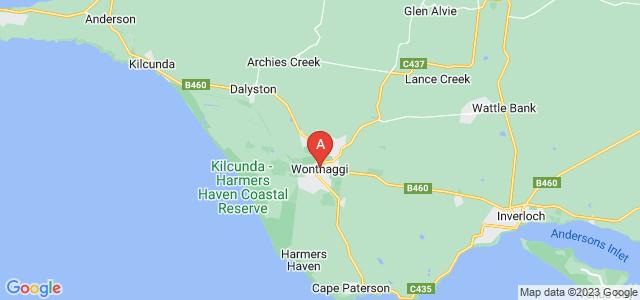 Google static map for Wonthaggi