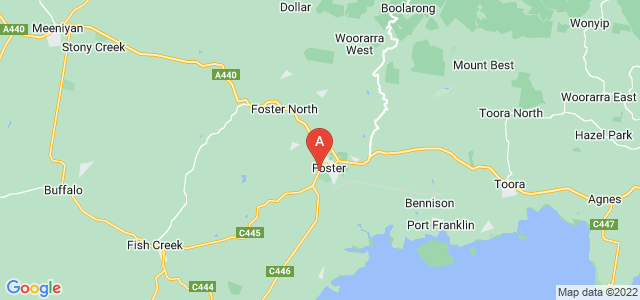 Google static map for Gippsland