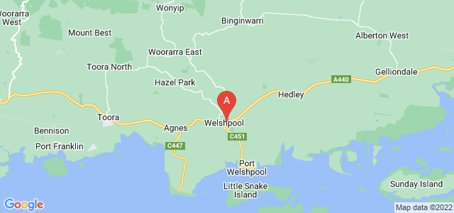 Google static map for Welshpool