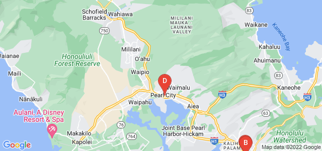 Google static map for Hawaii