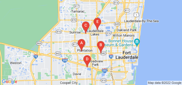 Google static map for Broward County