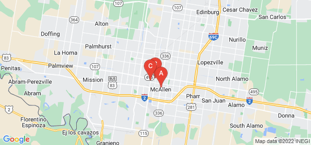 Google static map for Mcallen