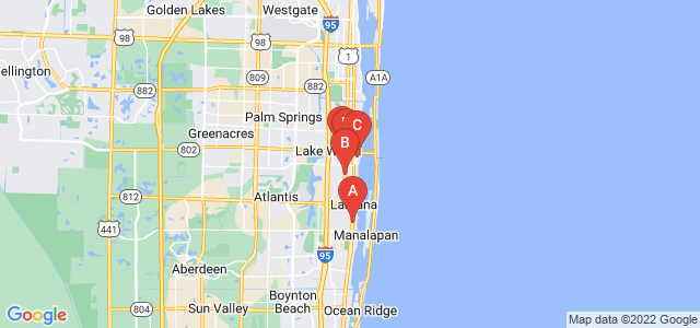 Google static map for Palm Beach County