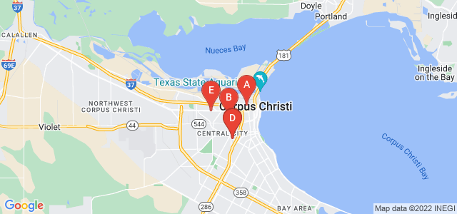 Google static map for Corpus Christi