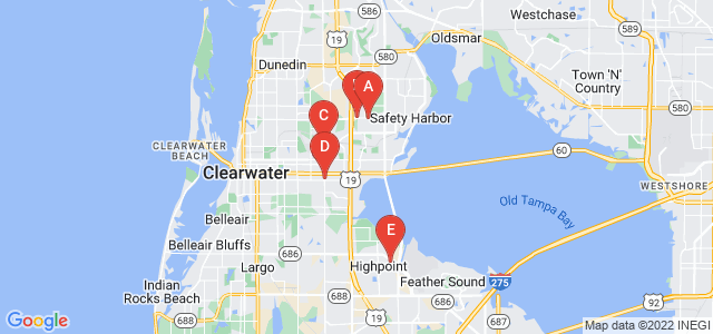 Google static map for Clearwater