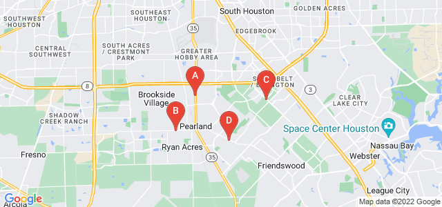 Google static map for Pearland