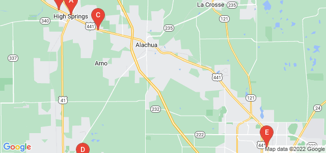 Google static map for Alachua County