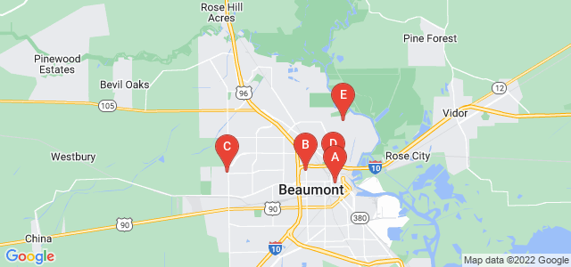 Google static map for Beaumont