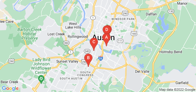 Google static map for Travis County