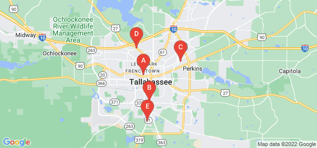 Google static map for Tallahassee