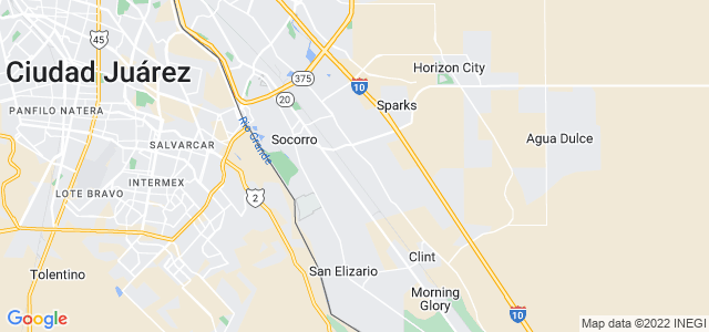 Google static map for El Paso County