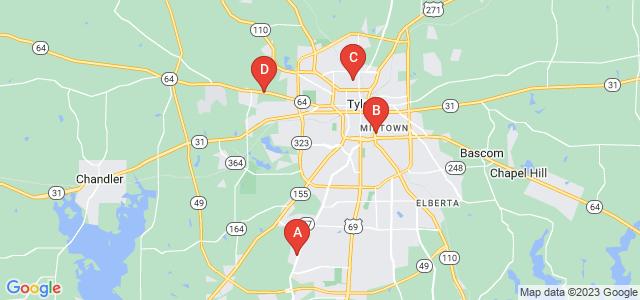 Google static map for Tyler