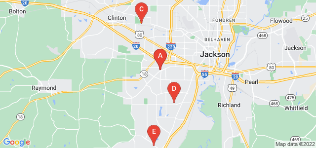 Google static map for Jackson
