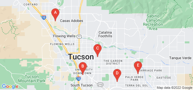 Google static map for Tucson