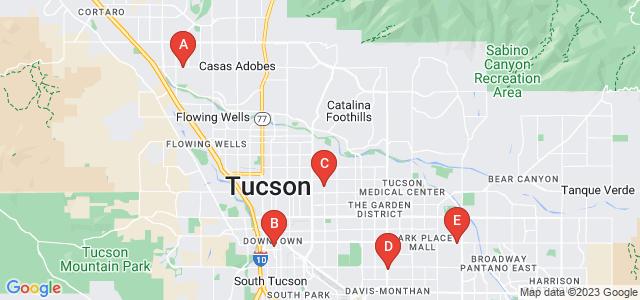 Google static map for Tucson