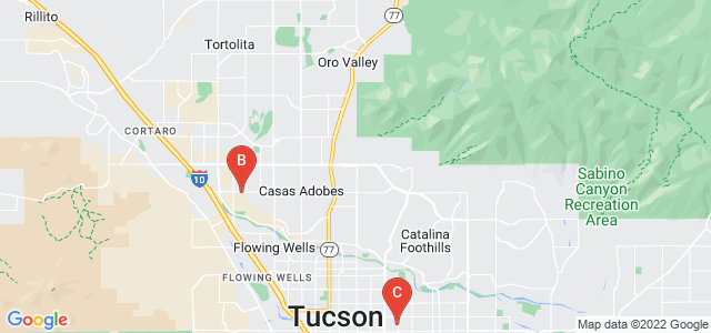 Google static map for Pima County