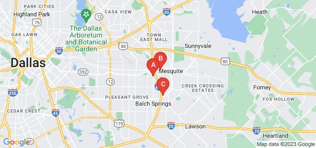 Google static map for Mesquite