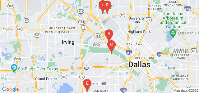 Google static map for Dallas